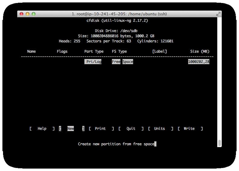 создание разделов linux
